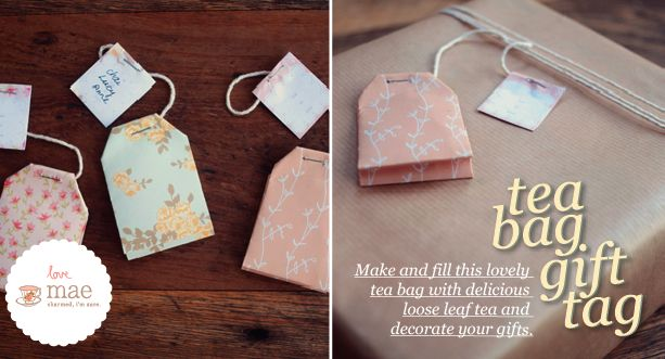Studio of Mae: Tea Bag Gift Tag Tutorial, made from paper