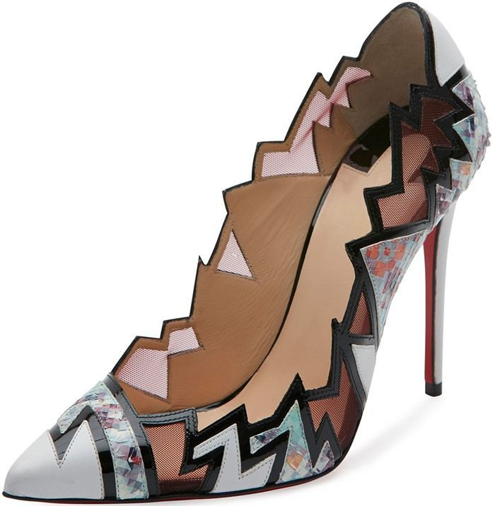 Christian Louboutin 'Explotek' Zigzag Leather Pumps