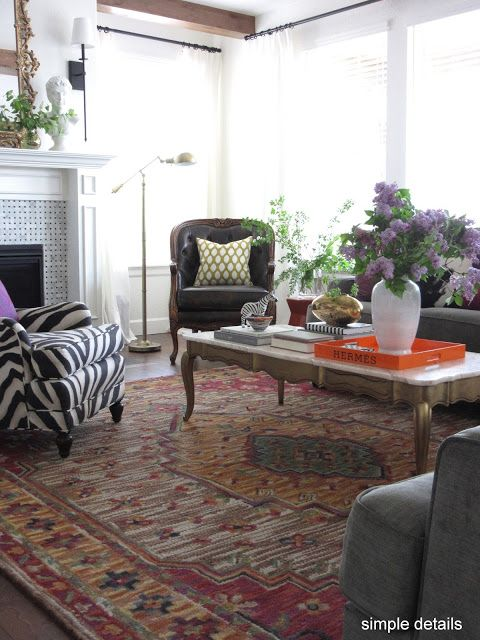 Simple Details: One Room Challenge - Eclectic Great Room Reveal