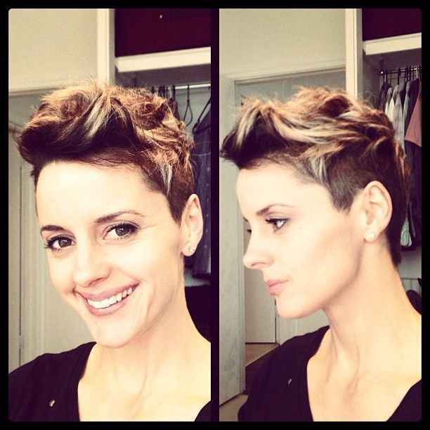This is almost exactly what my hair looks like now! Besides the color. I definitely want to try and style it this way.