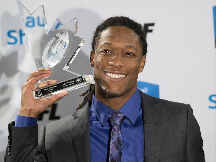 Eskimos' Derel Walker wins CFL most outstanding rookie award