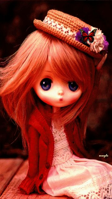 Wallpaper Of Cute Barbie Girl Animated Blythe Doll Girly Cute Fantasy Animated Doll