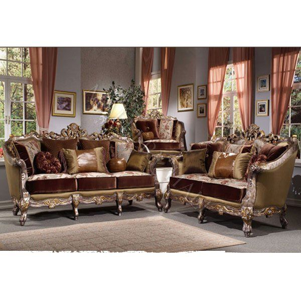 Elegant Silver Gold Chenille 2 Pc Sofa Set Renaissance Seating Pinterest Sofa Set And