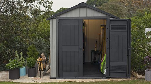 The Oakland 7x7 Shed: R 16000 incl delivery anywhere in SA:  The Oakland Range by Keter are the only maintenance-free resin sheds that can be painted to blend in seamlessly with your home environment - you'll never have to compromise on your garden aesthetics again. Cutting-edge Resin Talc Compound Technology ensures that these sheds outperform all others in both style and structure.