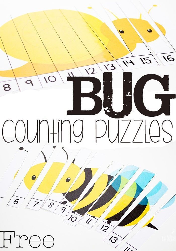 Free Printable Bug Counting Puzzles – Life Over Cs