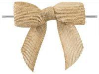 Jute strikken 8 x 6 cm, bruin, per stuk - Kimya verpakkingen