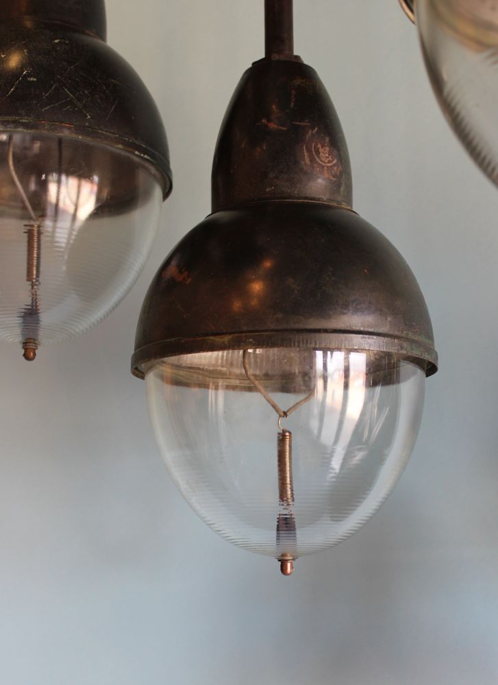 1930's hanging lights from Norfolk Decorative Antiques