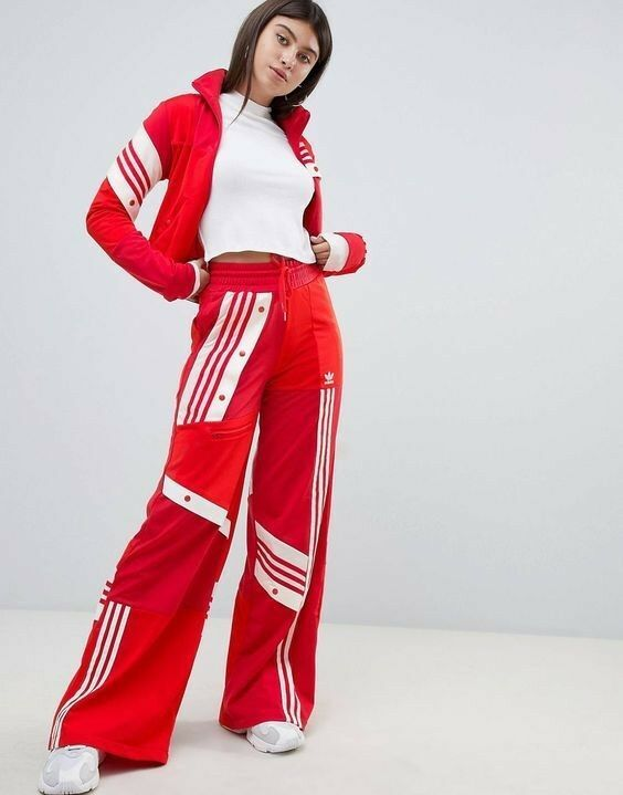 a1f33a6a210df1 ADIDAS x DANIELLE CATHARI High Rise TRACK Set (Pants And Jacket) size Small  Red #fashion #clothing #shoes #accessories #womensclothing #activewear  (ebay ...