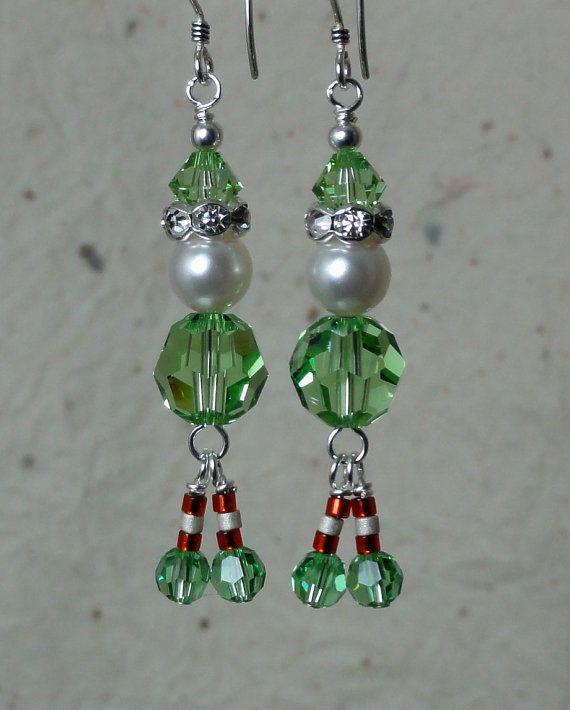 Best ideas about christmas earrings on pinterest