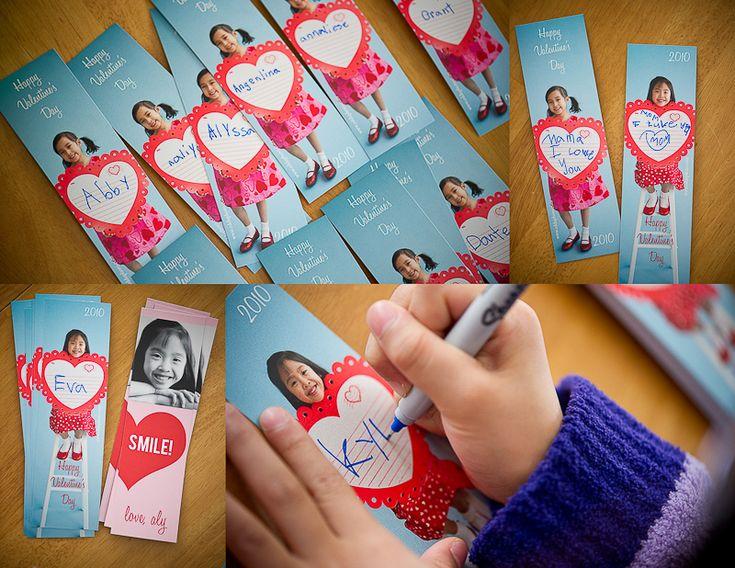 i love this idea: Valentines Ideas, Photos Ideas, Valentines Photos, Valentines Cards, Homemade Valentines, Valentines Bookmarks, Valentines Day Cards, Photos Valentines, Kid
