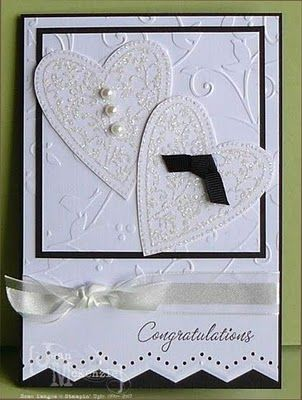 "another cute bride and groom heart card from an Australian blogger ""Stampin Cos Its Fun"""