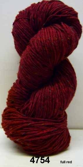 Aran Tweed Yarn (Full Red) Irish Donegal Kilcarra Wool 7oz/200g