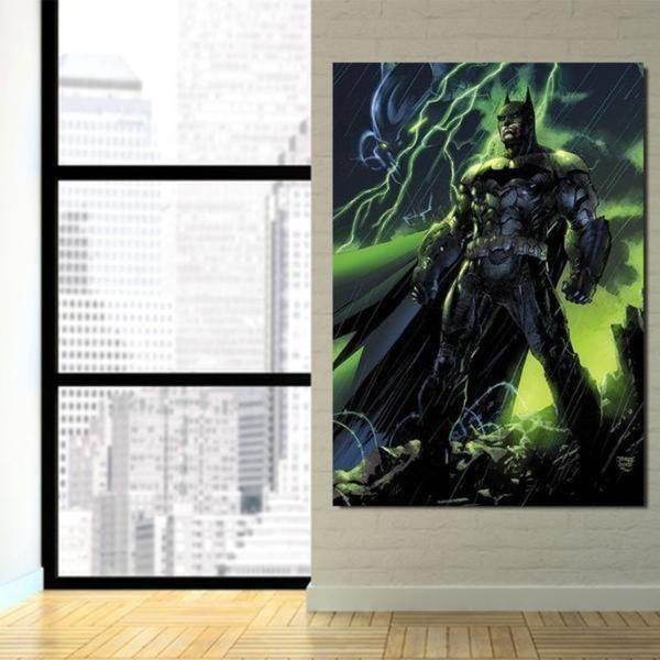 Batman Rise Again 3D Printed Batman Framed Canvas
