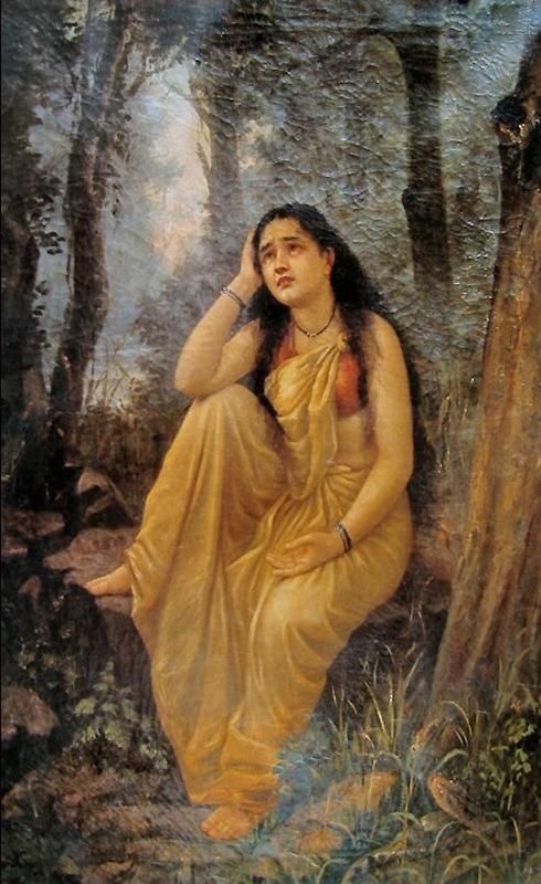 File:Raja Ravi Varma, Damayanti Vanavasa.jpg