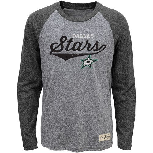 Adidas Boys' Dallas Stars Hockey Roots Triblend Long-Sleeve T-shirt (Black, Size X Large) - Pro Licensed Product, Nhl Hockey at Academy Sports