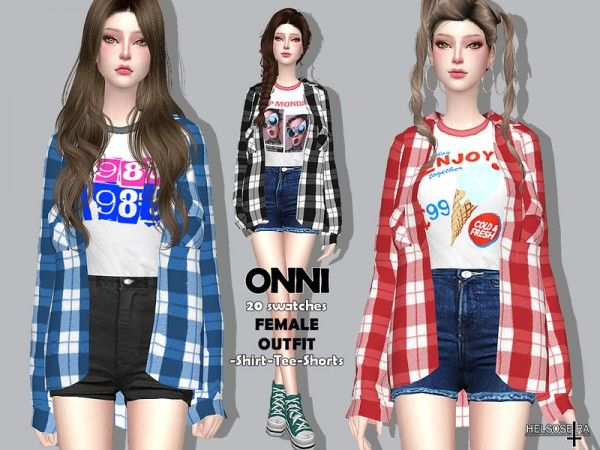 The Sims Resource: Onni Outfit by Helsoseira • Sims 4 Downloads | A