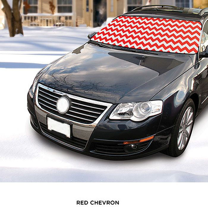Printed Fabric Winter Windshield Cover - Assorted Styles