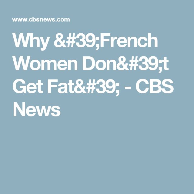 French women weight loss