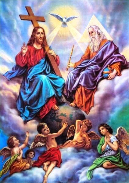 The Holy Trinity: God the Father, Jesus Christ the Son and the Holy Spirit