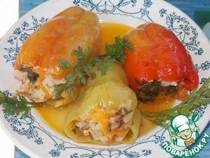 Рецепт: Перец, фаршированный курицей и тыквой