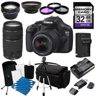 @Overstock.com.com - Perfect for photographers ready to make the move to digital SLR photography, the new EOS Rebel T3 delivers beautiful photos and video, speed, simplicity and fun. http://www.overstock.com/Electronics/Canon-EOS-Rebel-T3-Digital-SLR-Camera-with-18-55mm-IS-II-75-300-III-Lens-Bundle/7588709/product.html?CID=214117 $650.00