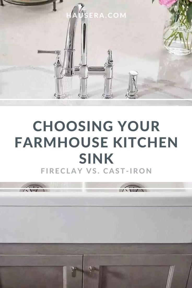 Farmhouse Kitchen Sinks Fireclay Vs Cast Iron In 2020 Farmhouse
