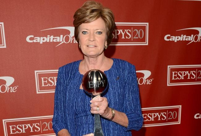 Pat Summit, what a great coach and person.  She will have a huge impact on the effort to find a cure for Altzheimers