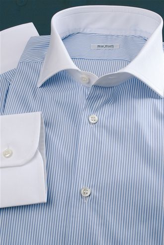 Striped shirt, and White Colour Heavenly, Hills and cuffs Color White, Men's Shirt, Shirt Tailor - $149