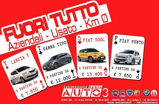 #Ypsilon, #Tipo, #500L e #Punto, questo mese #fuoritutto, vieni a trovarci.  www.nuovaauto3.it
