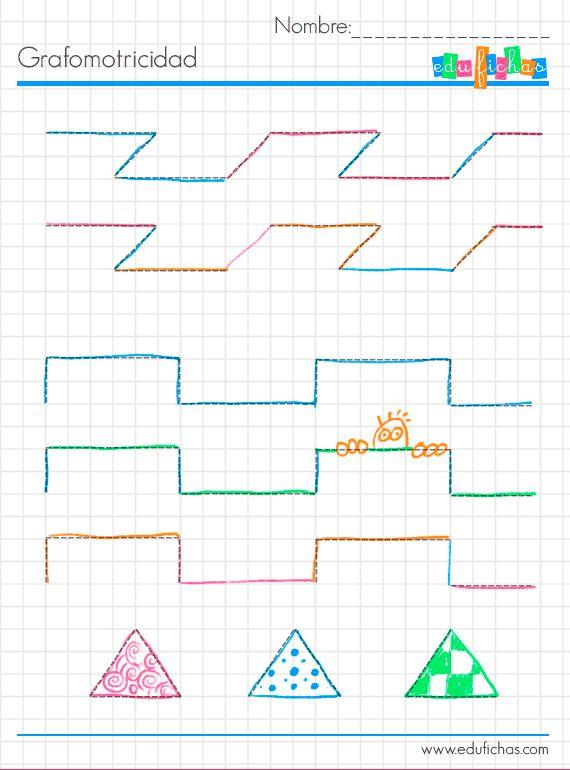 grafo infantil ficha color   Fichas de ejemplo. Mas fichas infantiles en www.edufichas.com  #repasar #ejemplo #fichas #escritura