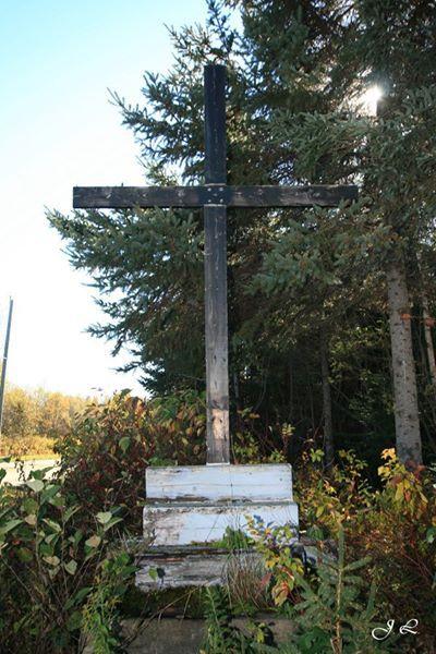 Croix de chemin du Rosaire (simple) - Rang A&B, St-Camille-de-Lellis, MRC Les Etchemins, QC, Canada