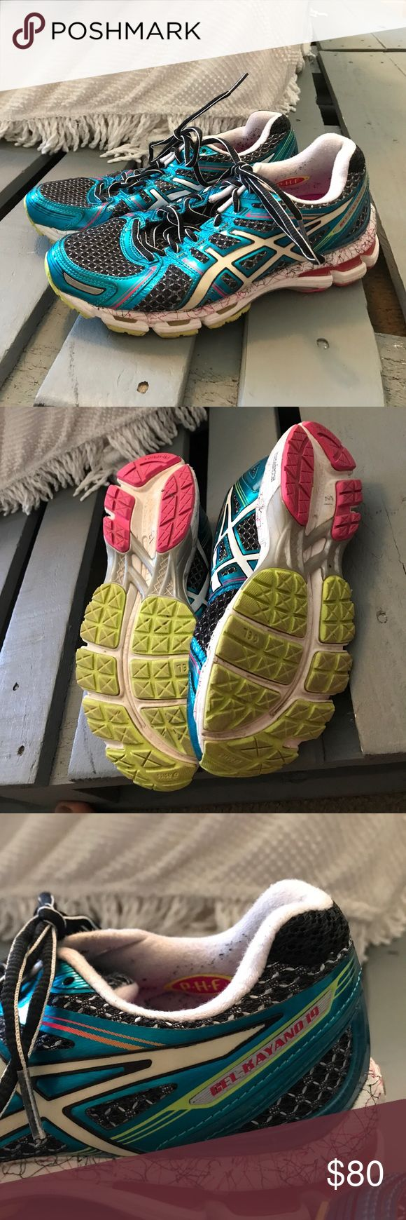 Asics Gel Kayano 19 Running Shoes Lightly used Gel Kayano 19's by Asics. Great condition. Light pilling around heel area from socks. Nearly perfect soles. Asics Shoes Sneakers