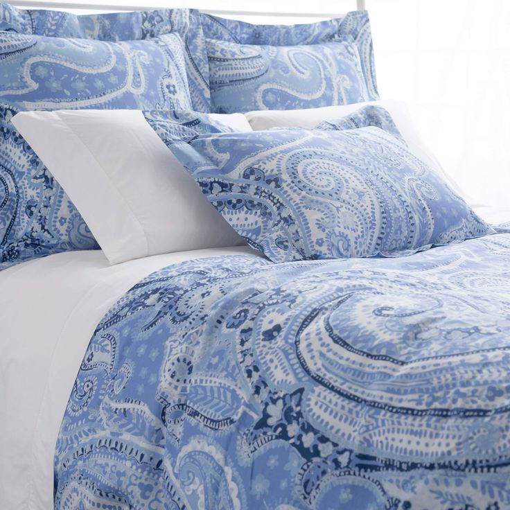 Pine Cone Hill Lyric Paisley Blue Duvet Cover @LaylaGrayce