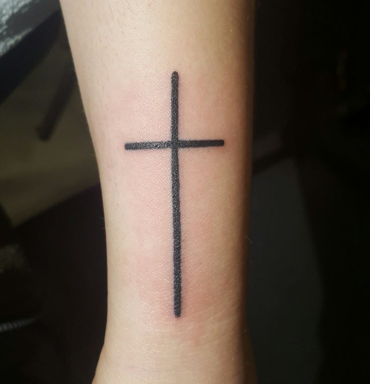 Simple Cross | Amanda Trouble Tattoo