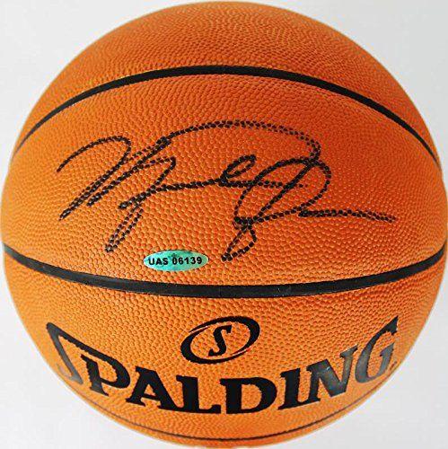Bulls Michael Jordan Authentic Signed Official NBA Basketball UDA Holo & COA purchase this item at www.nbafaniam.com