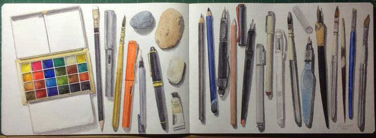 My current sketching tools.
