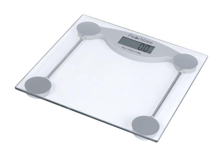 Peachtree digital bathroom scale 330 x 02lb clear