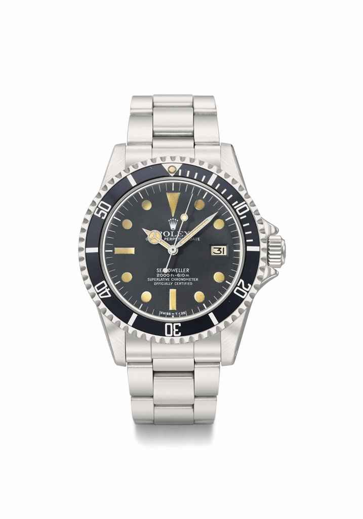 Rolex. A fine stainless steel automatic wristwatch with ...
