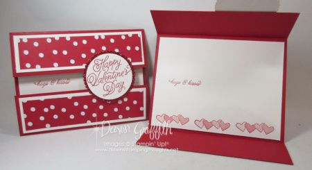 Valentines Day Peek a boo gate fold card Dawn Griffith
