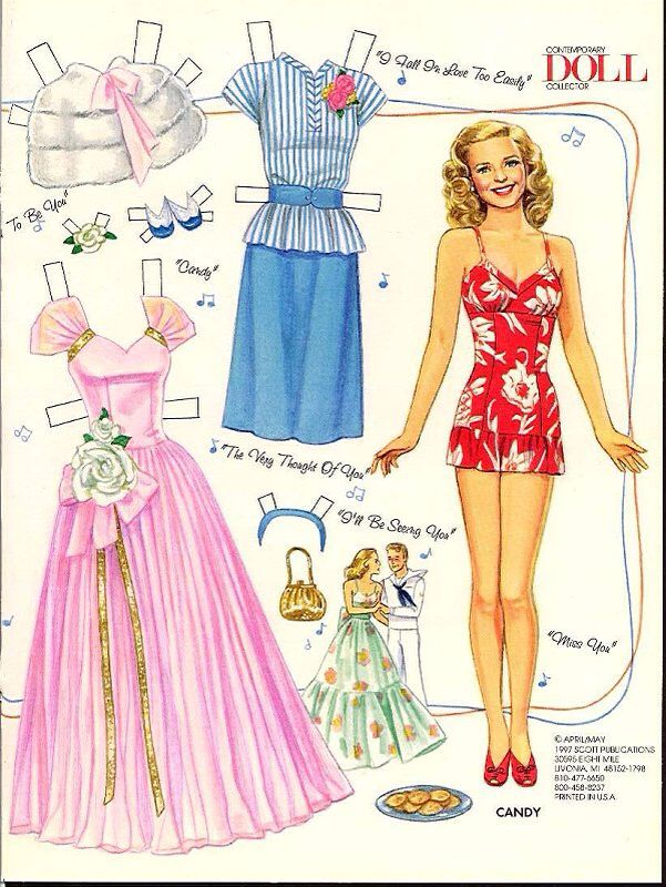 1940's paper doll