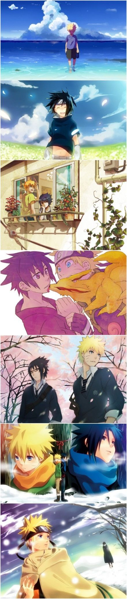 Naruto and Sasuke. WOULD HAVE CHANGED THE ENBTIRE PLOTLINE IF SASUKE WASNT SOUChE AN ASS AND BECAME NARUTOS FRIEND. JUST SAYIN'!
