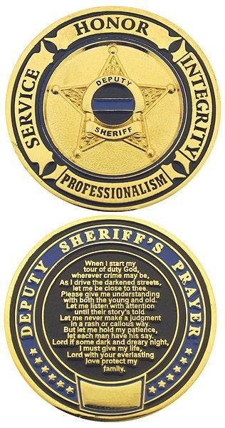Deputy Sheriff's Prayer Challenge Coin