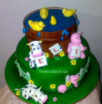 Cake Decoration Farm Theme : 17 Best images about Birthday cakes on Pinterest Toddler ...