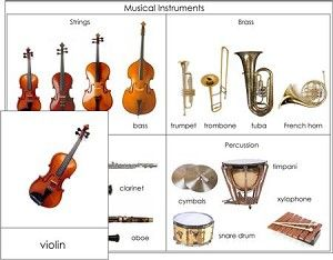 Kids learn about common musical instruments!  This PDF file includes:  16 picture cards of musical instruments, 16 labels for the musical instruments, 16 picture/label cards (control cards) for the instruments,  Definitions for all 16 instruments,    Full color control chart (pictured) so students can check their work,   Instructions for making this work