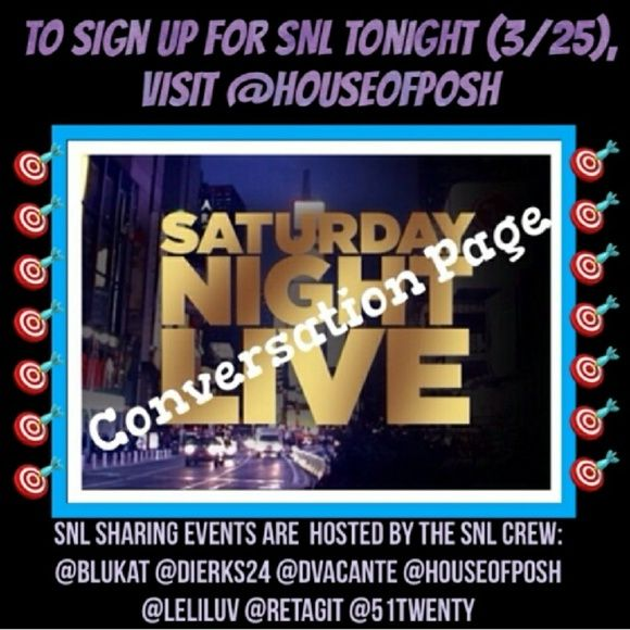"""Still Time⏰ Closing @9EST Sign up @houseofposh🙋 Saturday Night Live is an impromptu share group. It rotates closets through all our hosts. If you would like to be notified when and where the next one takes place, just """"like"""" their listing. If you would like to invite others or have questions, please do it HERE. We will share 3 items from each closet. Sign In Closes at 9pm EST. Everyone is Welcome to Join Us! Vintage Jewelry"""
