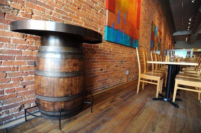 Barrel wall table