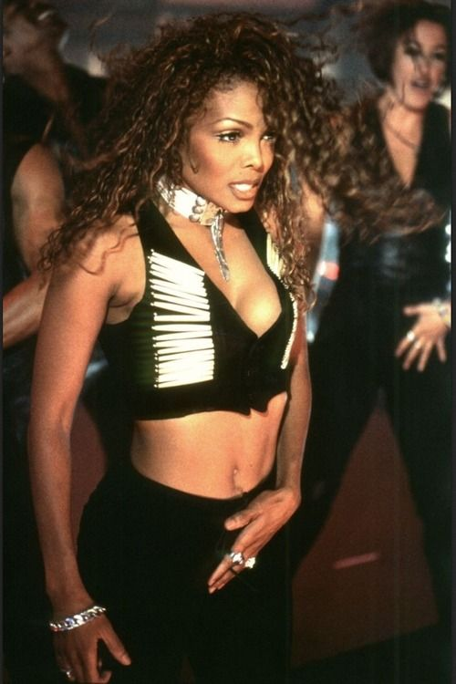 "Janet Jackson at her ""If"" video shoot"
