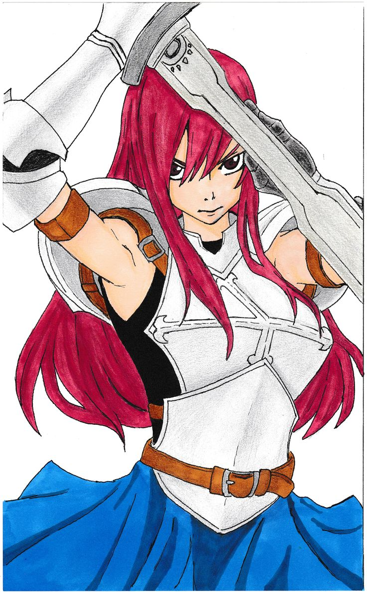 Erza Titania - Fairy Tail - Draw markers pencils