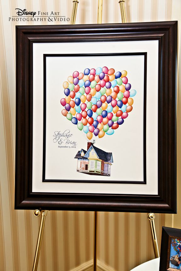 This guest book inspired by Pixar's Up is oh-so adorable!