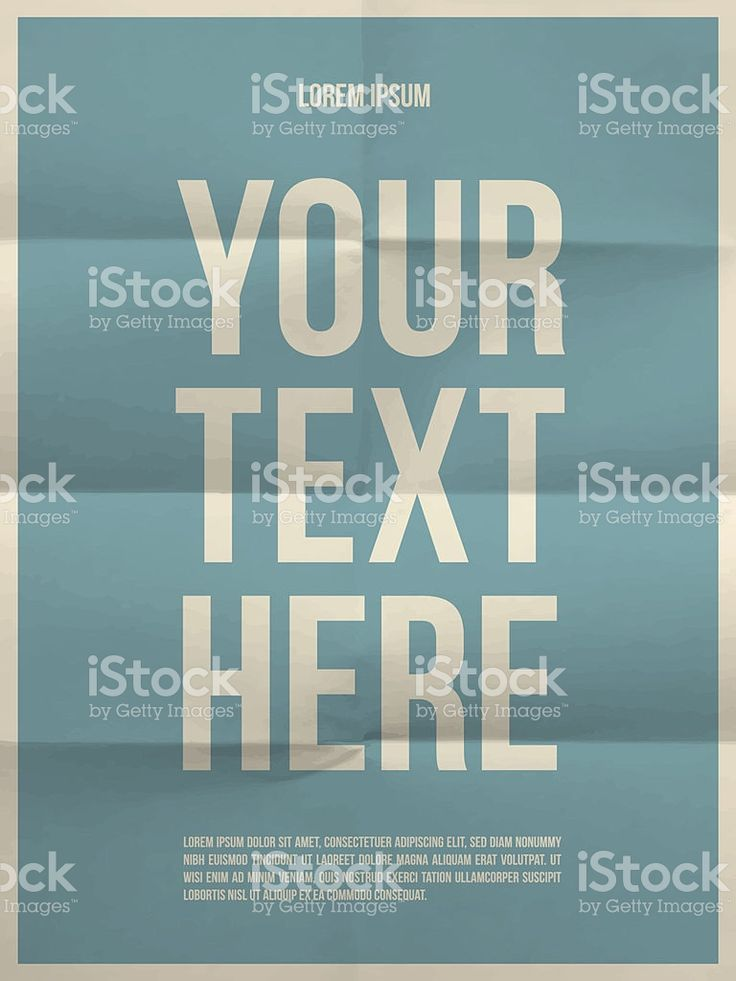 Poster template on folded in eight  paper texture royalty-free stock vector art